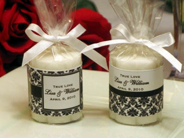 Candle wedding favors ideas