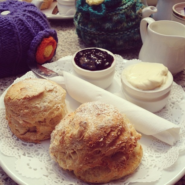 .@wxying | Scones and tea for brunch with @wliwen cloths that wrap around the teapot rea... | Webstagram - the best Instagram viewer