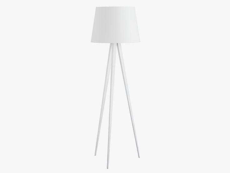 YVES WHITE Metal White metal tripod floor lamp base - HabitatUK