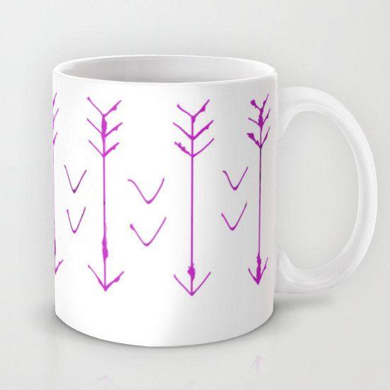 Purple Coffee Mug  - Purple Arrows Mug - Coffee Cup - Purple Arrow Hand drawn Art - Made to Order by ShelleysCrochetOle on Etsy