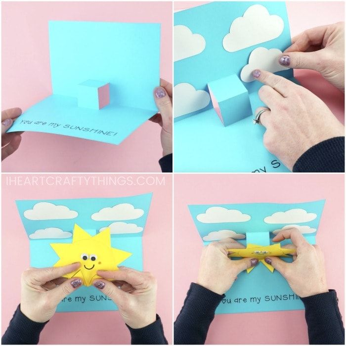 You Are My Sunshine Card Easy Pop Up Sun Card Template Mothers Day Crafts For Kids Cards Diy Easy Pop Up Cards