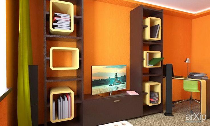 Спальня-кабинет для молодого человека.: интерьер, квартира, дом, спальня, современный, модернизм, 10 - 20 м2 #interiordesign #apartment #house #bedroom #dormitory #bedchamber #dorm #roost #modern #10_20m2