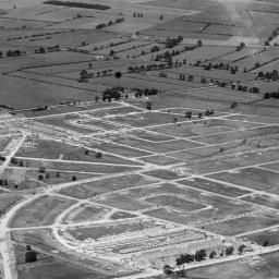 Housing estate under construction at Greenwood Avenue, Kingston upon Hull, 1931 | Britain from Above