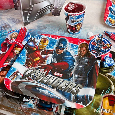 Bring the thrill of The Avengers movie to your superhero's birthday party with tableware featuring your kid's fave heroes! Click for more Avengers party ideas to make your birthday bash the best.