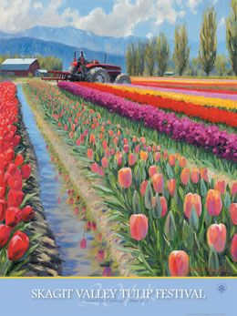 Skagit Tulip Festival in Washington - My senior mom is already counting the seconds to go visit this. Maybe with a grandkid or two?