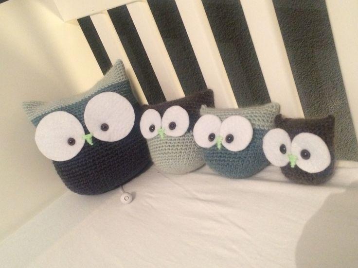 Crochet owl family