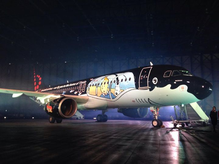 Can you imagine visiting the European capital of Comic Strip Art on board this shark submarine with Tintin & Milou? Tintin airplane on Brussels Airport, Belgium