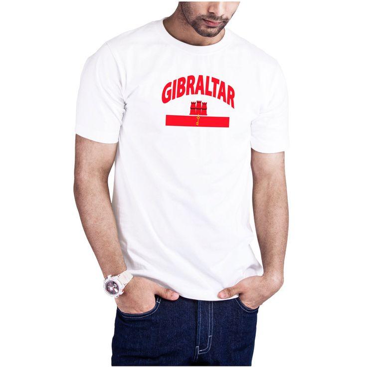 Men's Gibraltar Flag Map t-shirt Gibraltar Europe t-shirt by Calidreamers on Etsy