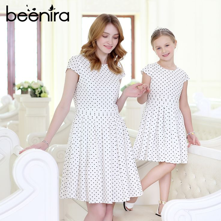 ==> [Free Shipping] Buy Best Beenira Family Dresses 2017 New Summer Style Children Dots Pattern Princess Dress Design For Mother And Baby Short-Sleeve Dress Online with LOWEST Price | 32817783701