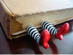 Alpha Stamps News » Guest Designer: Kira Nichols: Bookmarks, Polymerclay, Wizardofoz, Books Markers, Ruby Slippers, Wicked Witch, Wizards Of Oz, Polymer Clay, Crafts