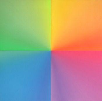 Squilibrio, 2015, tecnica mista su tela, cm 100 x 100 Jorrit Tornquist - FerrarinArte - Spazio eventi 2015
