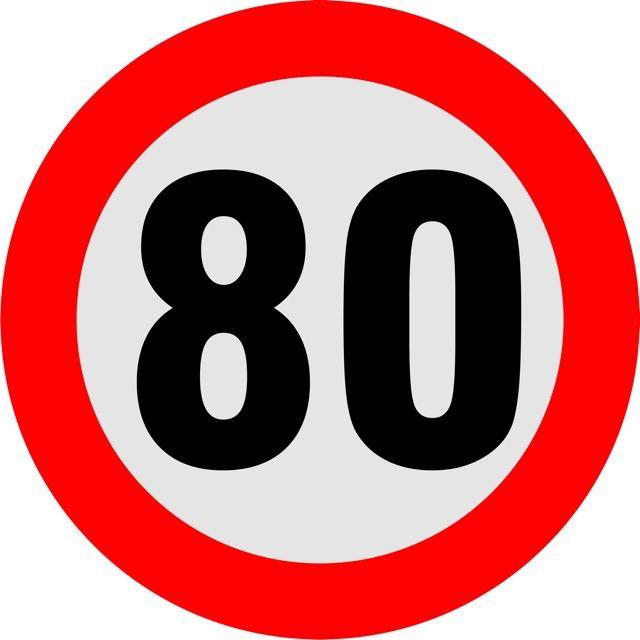 Naklejka Ogranicznik prędkości 80 km