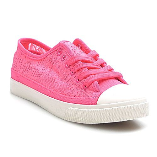 Kayla shoes Damen Turnschuhe mit Spitze Sneaker BB-1637 Fuchsia 41 - http://on-line-kaufen.de/kayla-shoes/41-eu-kayla-shoes-damen-turnschuhe-mit-spitze-2