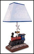 Train Table Lamp with Matching Night Light