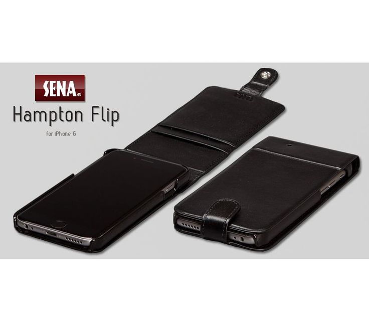 Electronics :: Cell Phones accessory :: For iPhone Accesorry :: Leather case for iPhone 6/6S-Black Sena Hampton Flip