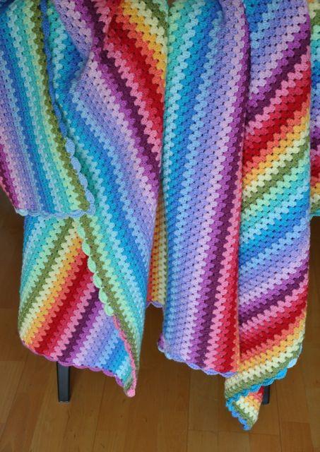 Nun Ist Sie Weg Meine Kuschelige Regenbogen Granny Decke Sie Reist