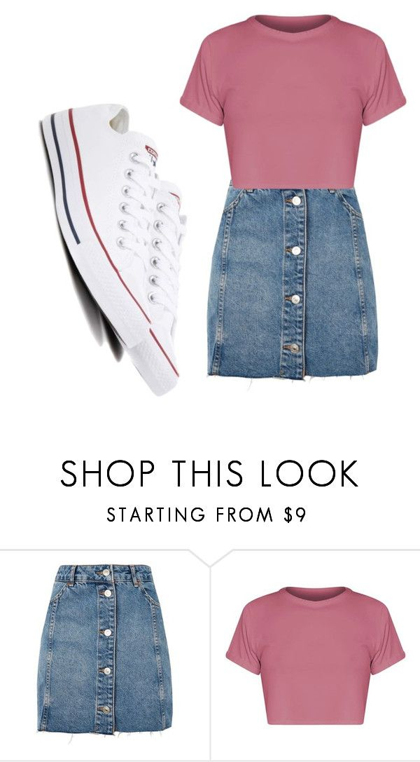 """""""Untitled #756"""" by alanawedge59 on Polyvore featuring Topshop and Converse"""