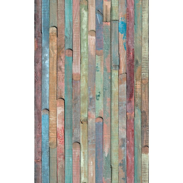 An array of artistic and colorful wooden panels canvas this especially unique adhesive film. Both rustic and beautiful, bring your design ideas to life by applying to multiple surfaces and decor in your home.