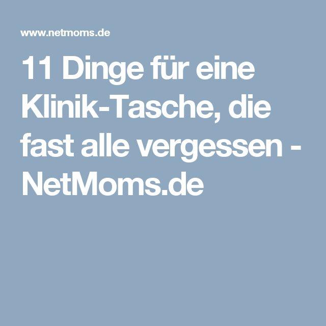 11 Dinge für eine Klinik-Tasche, die fast alle vergessen - NetMoms.de