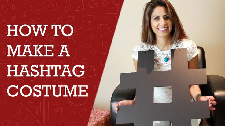 How to Make a Hashtag Costume | Hashtag  Costume in Less than 20 Minutes