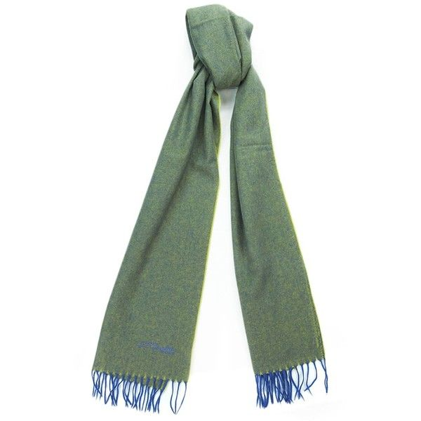 St Dupont 100ws Vv Green/Purple Fine Purecashmere Classic Mens' Scarf... ($90) ❤ liked on Polyvore featuring men's fashion, men's accessories, men's scarves, green, mens cashmere scarves and mens scarves