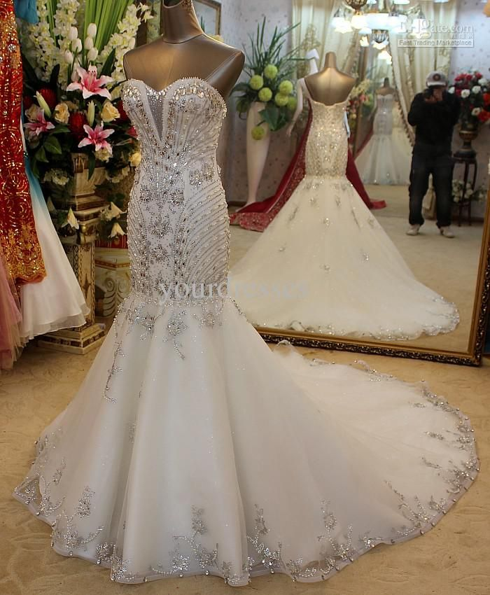 114 best wedding dresses images on pinterest ball gown for Bling corset mermaid wedding dresses