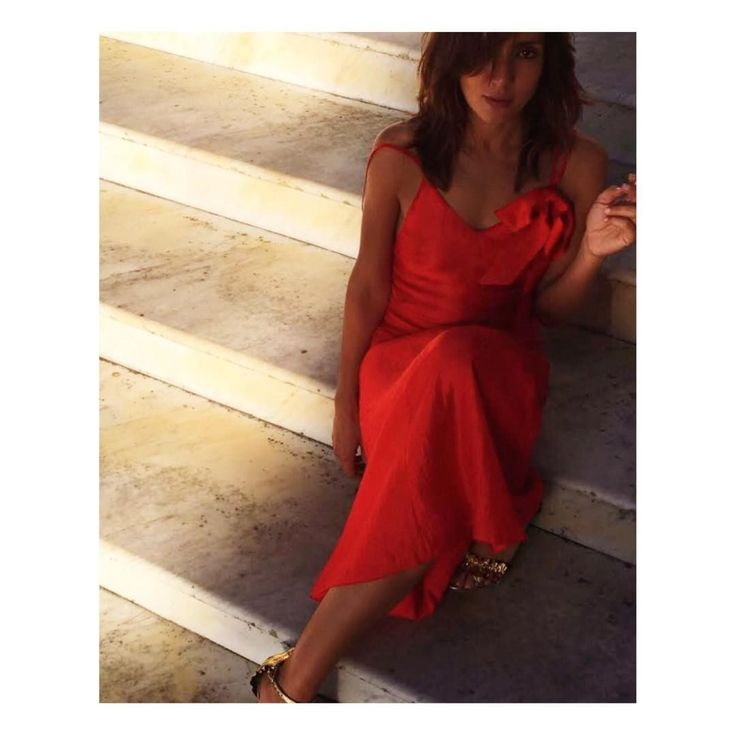 "Aniye By (@aniyeby) on Instagram: ""AMBRA Totally in Red ❤️ // Mirror long Dress // #ss17 #newcollection #rouge"