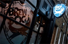 Close to the Camden Tube station, the BrewDog bar serves great craft beer made in Scotland. They also make the world's strongest beer. Ever. Tactical Nuclear Penguin is 32% ABV. Try it and forget your night. :-)