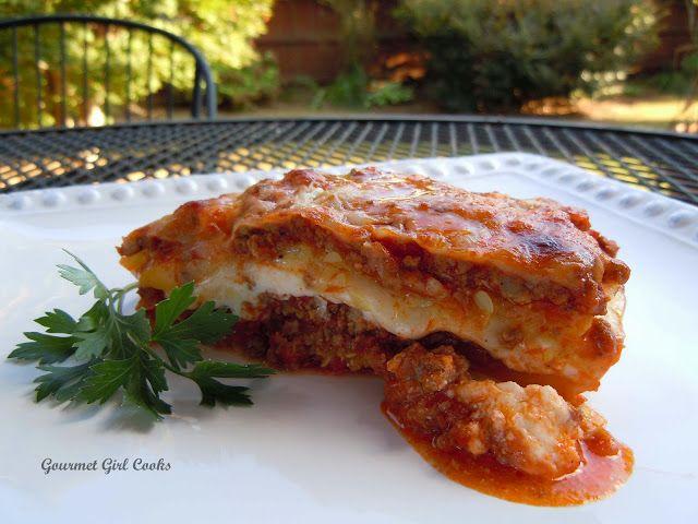 Gourmet Girl Cooks: Lasagna w/ Yellow Summer Squash Noodles