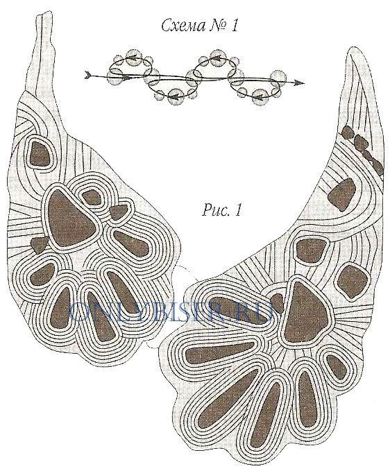 Колье Каменный цветок, схема