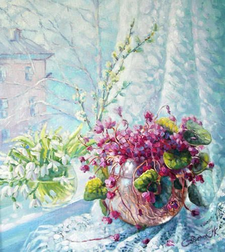 Оригинал схемы вышивки «Весна пришла»