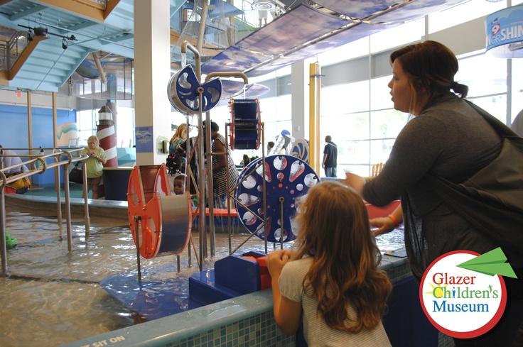 Splashing around in Kidsport!