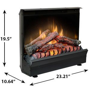 Dimplex 23-Inch Deluxe Electric Fireplace Insert/Log Set - DFI2310