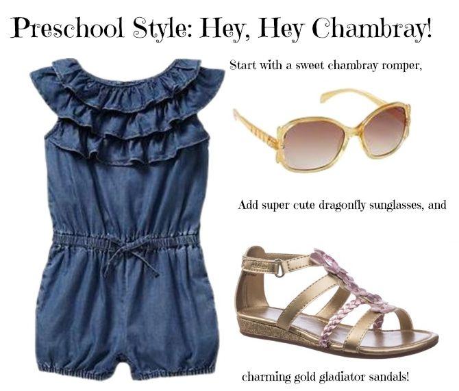 preschool spring fashion, chambray, toddler, fashion