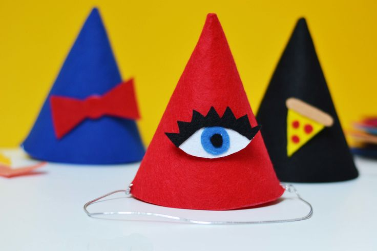 Easy DIY Party Hats with Interchangeable Velcro Shapes