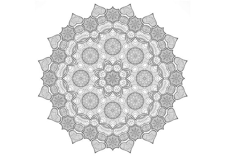 1000 images about folk ornament coloring pages on - Mandalas adultes gratuits ...