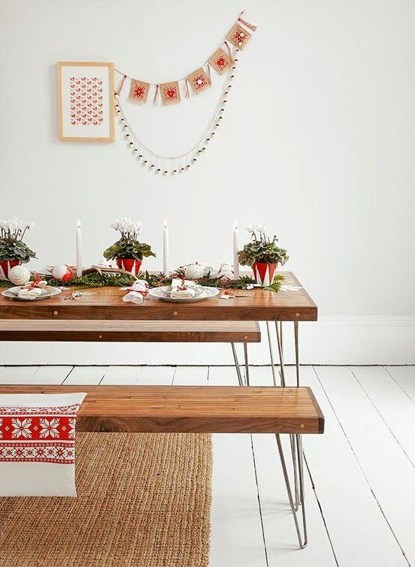 北欧クリスマスダイニングテーブル飾り