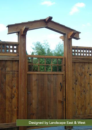 Wood Structures | Wood Pergolas | Wood Arbors | Landscape East West