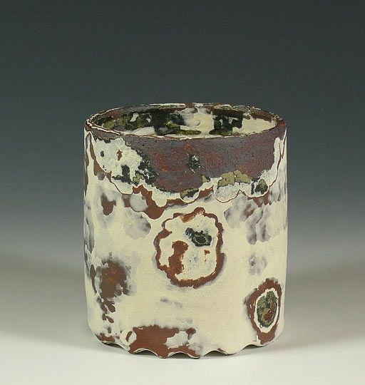 Ceramics by James Faulkner at Studiopottery.co.uk - 2011. Stoneware vessel form. Dimension: 90mm high x 82mm wide
