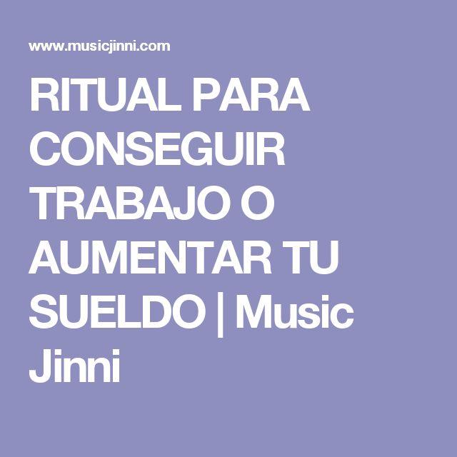 RITUAL PARA CONSEGUIR TRABAJO O AUMENTAR TU SUELDO | Music Jinni