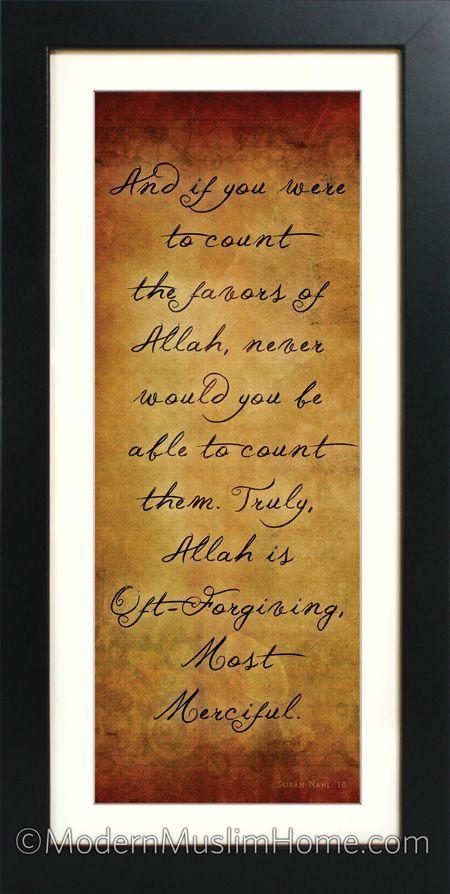 The Favors of Allah | Modern Muslim Home