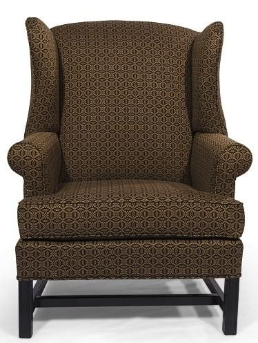 Lovely HomeSpun Wing Back Chair By Lancer