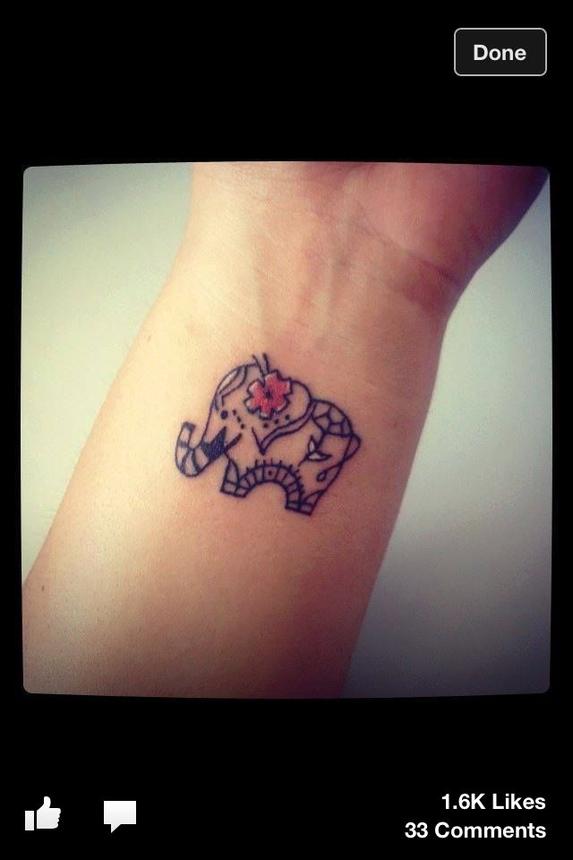 Cute Elephant Tattoo