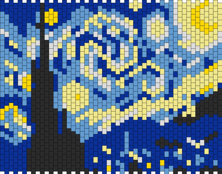 Starry Night Panel bead pattern