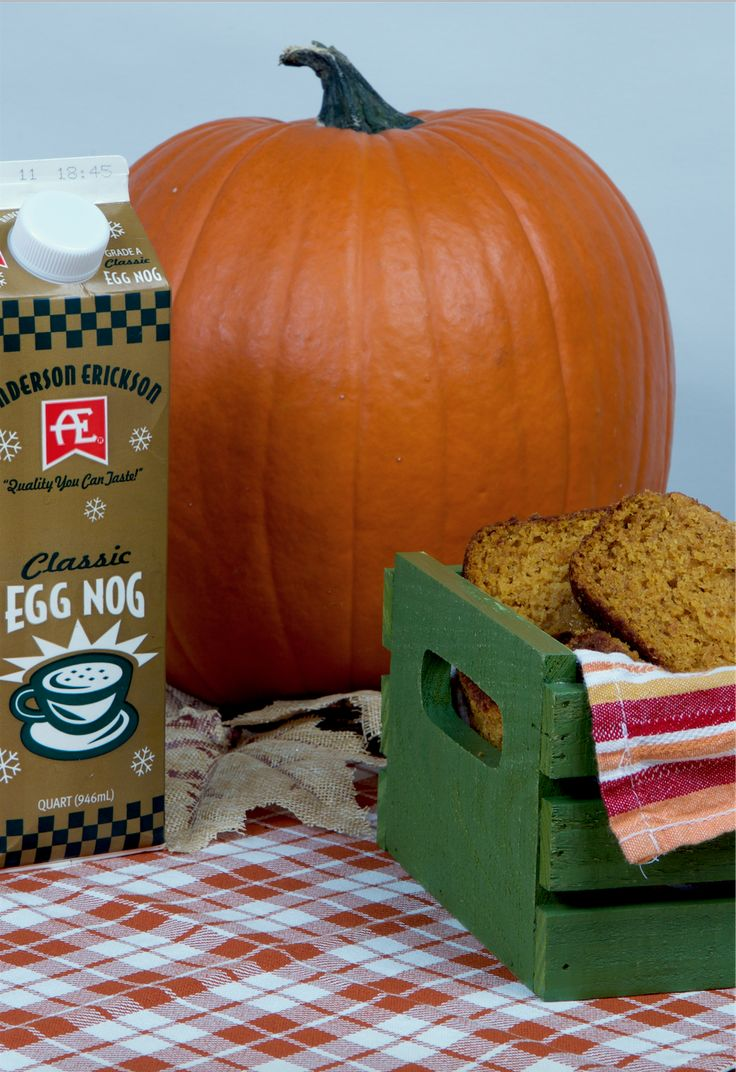 What's better than Pumpkin Spice? Pumpkin and Egg Nog all in one recipe. The best of fall flavors.