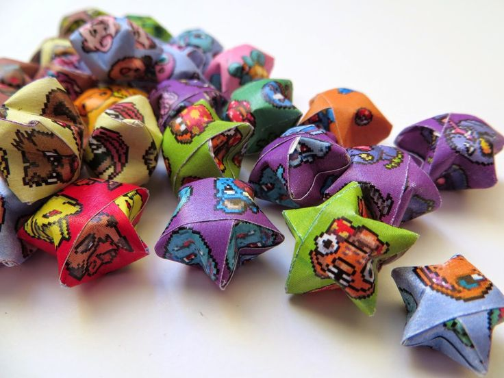 Diversion Showcase: Gotta Catch 'Em All!    #origami #stars #pokemon #freedownload