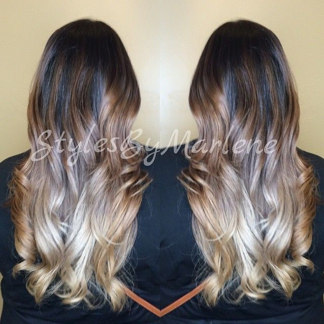 Melting Ombré #ombre#ombrelove#beautifulhair#fanolacolor#salonguys#fanola#btcpics#barbershopconnect#modernsalon#guytang#balayage#baliage#wellalife#wellahair#balayageombre#whocuts#angelofcolour#stylistshopconnect#barbershopconnect#mua#fallhair#ombresunite#hairdiscovery#hairgasm#stockton#stocktonca#209#stylesbymarlene#olaplex. ****prices can only be given in person, due to everyone's hair is different, and may require a different method to achieve the look you are going for.. ****