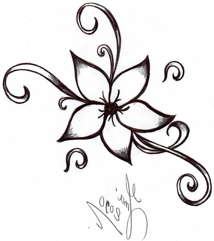Easy Flower Sketch