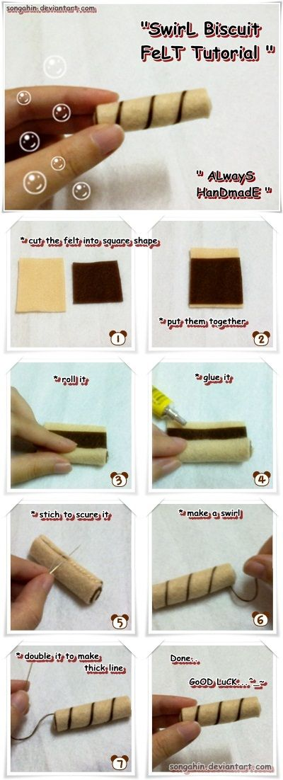 Felt Swirl Biscuit Tutorial.. by ~SongAhIn on deviantART