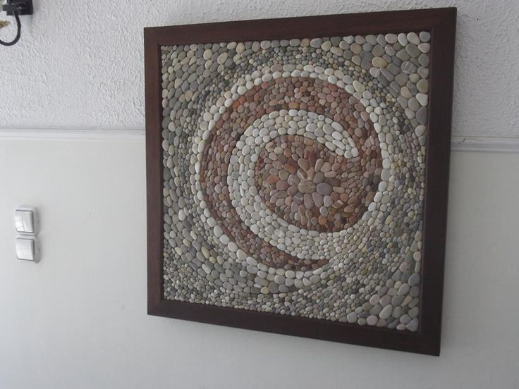 Natural aegean pebbles in a mosaic frame i made.
